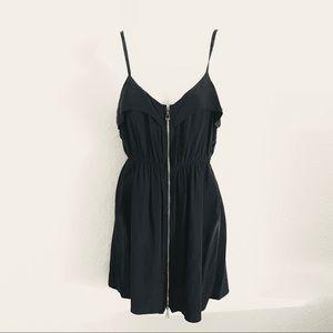 Revolve Dolce Vita Silk Exposed Zipper Dress Sz XS